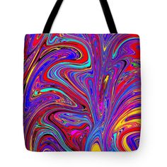 Thing 1, Art Bag, Abstract Drawings, Tag Art, Basic Colors, Poplin Fabric, Bag Sale, Color Show, Marines