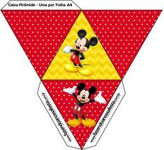 Caixa Pirâmide Mickey: