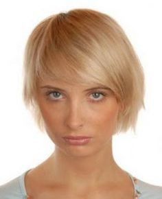 Chin length bob with side swept bangs