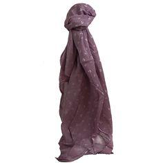 fbab6fc20f0 Foulard violet en coton et soie à imprimé d ancres marines blanches