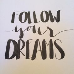 And dreams do come true 💫 #yourfullerlife #etsy #calligraphy #calligraphylove #calligraphymasters #calligraphydesign #brushlettering #handlettering #followyourdreams #leftylettering #caligritype #typographyinspired