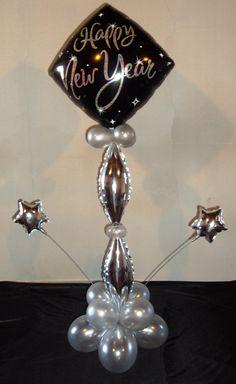 New Year star centrepiece.