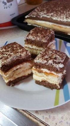 Alpesi kocka, nagyon krémes finomság, aminek ott a helye az ünnepi asztalon! - Egyszerű Gyors Receptek Sweet Desserts, Sweet Recipes, Cake Recipes, Dessert Recipes, Hungarian Desserts, Hungarian Recipes, Gourmet Recipes, Cooking Recipes, Torte Cake
