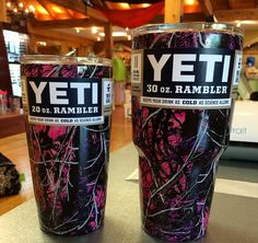 2 YETI Rambler's dipped in you can never have enough! Country Girl Style, Country Girls, Muddy Girl Camo, Redneck Girl, Hunting Camo, Purple Camo, Yeti Cup, Camo Fashion, Hunting Clothes
