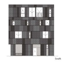 Image 27 of 30 from gallery of KURO Building / KINO Architects. South Elevation