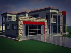 Roof Design, Exterior Design, House Design, Beautiful House Plans, Beautiful Homes, Future House, My House, Double Storey House Plans, House Plans South Africa