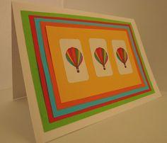 Handmade birthday card, craft, fun, rainbow, cute, balloons