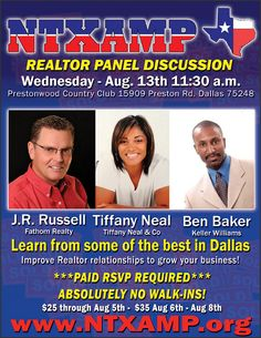 REALTOR Panel Discussion - Aug. 13th 2014! http://www.ntxamp.org
