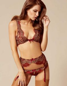 a6cb7fbeff Shop The Savanna Bra In Rust By Agent Provocateur. Discover The Soiree 2016  Lingerie