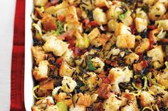 Rosemary Focaccia and Wild Rice Stuffing