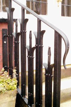 Contemporary and bespoke wrought iron handrail