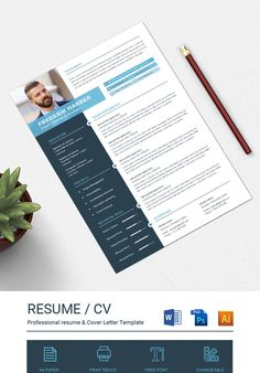 This resume template is fully layered. there are three version (MS Word, PSD & EPS) Included in main file. Swatches color is used in this resume. So it is easy Resume Cover Letter Template, Cover Letter For Resume, Letter Templates, Best Resume, Resume Cv, Resume Design, Resume Template Examples, Resume Template Free, Resume Skills