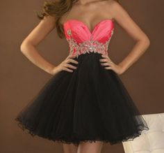Pink and black dress with silver beaded belt