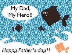 My Dad, My Hero Greeting Card.