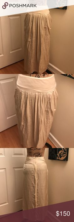 Adam Lippes Silk Skirt Beautiful one of a kind Adam Lippes Silk Skirt. Worn one at a wedding. Excellent condition! Size 0 Adam by Adam Lippes Skirts Maxi