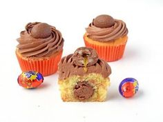 Cadbury Creme Egg Vanilla Cupcakes recipe