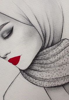 Watercolor red lips Sígueme Allison Guzman You are in the right place about Zeichnungen kugelschreiber einfach Here we offer you the most beautifu… - nimivo sites Girl Drawing Sketches, Sketch Painting, Cool Art Drawings, Pencil Art Drawings, Easy Drawings, Dancing Drawings, Drawing Ideas, Drawing Drawing, Art Du Croquis