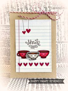 """Lawn Fawn - Love You a Latte + coordinating dies, Sweater Weather """"blustery"""" 12x12 paper, Sweater Weather 6x6 paper, Stitched Journaling Card, Small Stitched Rectangle Stackables, Orchid Lawn Trimmings _ Coffee Smiles by Nancy via Flickr - Photo Sharing!"""