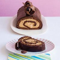 The rich cocoa and espresso flavors of this impressive and quick-to-prepare Chocolate-Espresso Roulade cake will satisfy even the most discriminating of chocoholics.