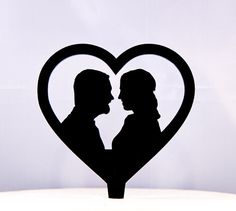 Hey, I found this really awesome Etsy listing at https://www.etsy.com/listing/118231673/wedding-cake-topper-custom-silhouettes