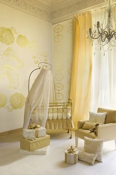 nursery design, nurseries, colors, high ceilings, babies nursery, yellow, cribs, canopies, babies rooms