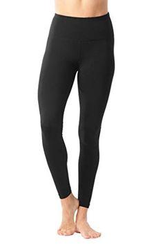 2409c7cafd444 90 Degree By Reflex - High Waist Power Flex Legging - Tummy Control - Black  -