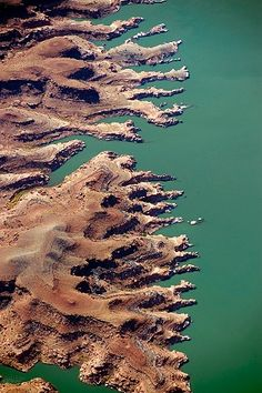 Aerial photo of Lake Powell Shoreline, Glen Canyon National Recreation Area, UT. Credit: John Wark.