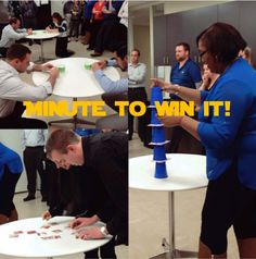 Our CBIZ Chicago office Playing Minute to Win It for the #CBIZFoodDrive