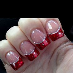 Christmas Nails   Kacy this one is for you! Festive Red nails