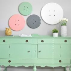 Easy DIY button art for a craft room!