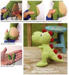 Best 12 Amigurumi t rex dinazor free pattern – Artofit – Page 834643743421386785 – SkillOfKing. Crochet Dinosaur Patterns, Crochet Dragon Pattern, Crochet Patterns Amigurumi, Crochet Dolls, Crochet Mouse, Crochet Baby, Free Crochet, Ravelry Crochet, Amigurumi Free