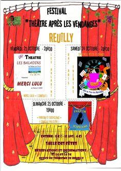 """Festival """"Théâtre après les vendanges"""", Salle des fêtes, du Vendredi 23 Octobre 2015, 20h30 au Dimanche 25 Octobre 2015, 15h00."""