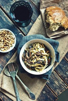 Wild Mushroom Fettucine from The Gouda Life