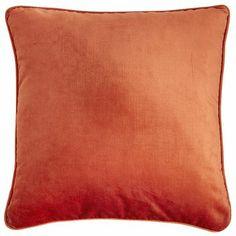 Velvet Pillow - Papaya possibility for living room