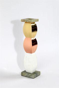 Ettore Sottsass Giallo Giallo Bianco Vase, 1988