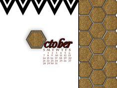 #free October Desktop Calendar Download