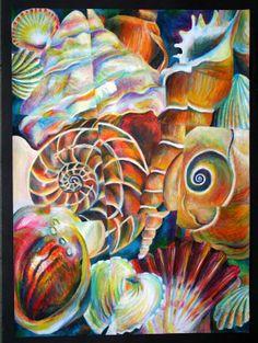 GCSE Art Work A Level Textiles Sketchbook, Gcse Art Sketchbook, Sketchbook Ideas, Spirals In Nature, Sea Life Art, A Level Art, Alcohol Ink Art, Nature Illustration, Art For Art Sake
