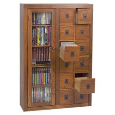 I pinned this Covington Media Cabinet in Dark Oak from the Spring Storage event at Joss and Main! Storage needed for CD's, but I want total view of all, protected by double glass doors. Comic Book Storage, Dvd Storage, Media Storage, Storage Cabinets, Tall Cabinet Storage, Storage Ideas, Glass Cabinets, Fabric Storage, Storage Room