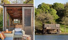 Andersson-Wise Architects designed a unique boathouse that blends into its surroundings in Austin | Inhabitat - Green Design, Innovation, Architecture, Green Building