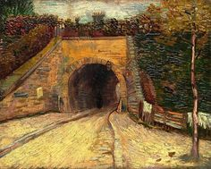 Vincent Van Gogh - Roadway with Underpass (Le viaduc), 1887.