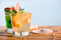 Cocktail recipe for a Kumquat-Ginger Caipirinha, a variation of Brazil's national cachaca and sugar drink, which is flavored with kumquats and ginger.