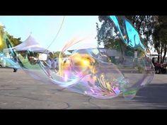 Giant Bubbles Float Through Maker Faire