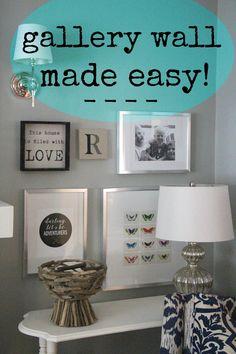 Easy Gallery Wall Tips keepitbeautifuldesigns.com