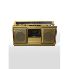 Gold Ghetto Blaster Bump beats like an OG with this 80's Sony boombox! This bad boy has a custom gold finish... BLING BLING BITCH!! Available on our website  #ghettoblaster #boombox #hiphop #throwback #cassettetape #goldstereo #vanillaice #bling #unofficialmerchandise #unofficialmerchants