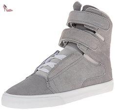Supra Society II, Baskets mode femme - Argent (Silver/White), 41 EU - Chaussures supra (*Partner-Link)