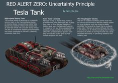 "For my Red Alert 3 mod ""Red Alert Zero"" This is the Soviet national Tesla Tank vehicle (for Czechoslovakia) and is designed to charge toward heavy vehic. Futuristic Cars, Futuristic Vehicles, Bug Zapper, Command And Conquer, Sketches Tutorial, Tank I, Tank Design, Armored Vehicles, Arma 3"