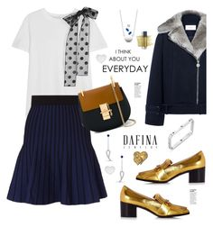 """""""DafinaJewerly.com nº2"""" by hamaly ❤ liked on Polyvore featuring RED Valentino, Gucci, Maje, Carven, Love Quotes Scarves, Chloé, Bite, outfit, ootd and jewerlry"""