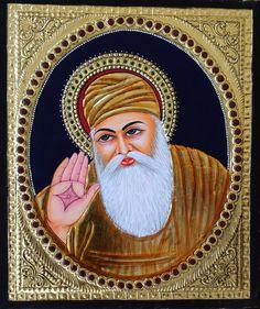 Tanjore Sikh Guru Nanak Artwork