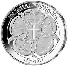 Jubiläumsausgabe Silberprägung Martin Luther Mdm Deutsche Münze