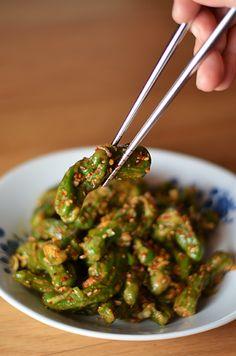 Kkwarigochu Muchim...say what? (steamed shisito peppers) - kimchi MOM ™ @Kimchi Mom